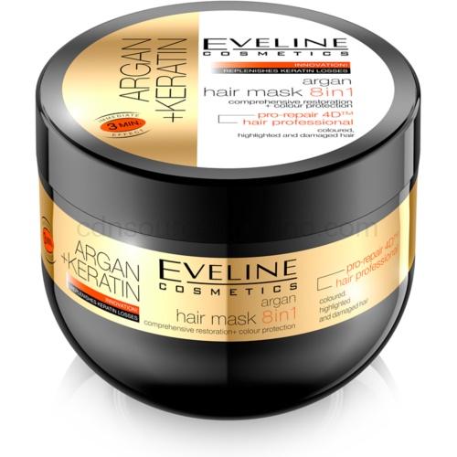 Eveline Cosmetics Argan + Keratin vlasová maska 8 v 1 500 ml