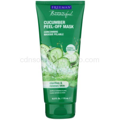 Freeman Feeling Beautiful slupovací pleťová maska pro unavenou pleť Cucumber (Peel - Off Mask Clarifies & Renews Skin) 175 ml