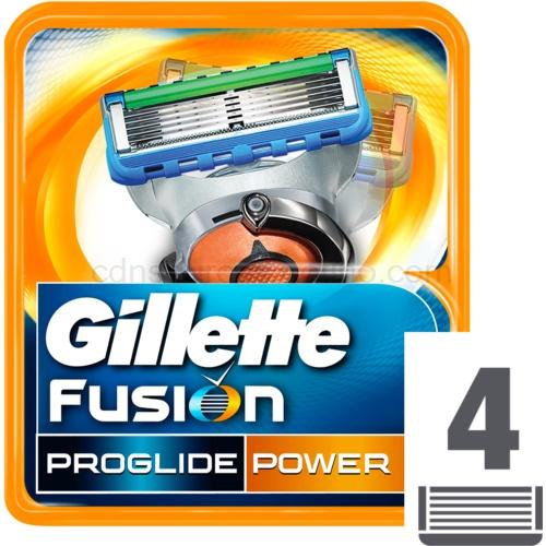 Gillette Fusion Proglide Power náhradní břity 4 ks