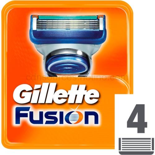 Gillette Fusion Fusion náhradní břity 4 Ks
