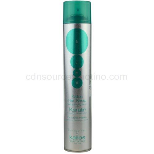 Kallos KJMN lak na vlasy s keratinem (Extra Strong Hold Hairspray with Keratin) 750 ml