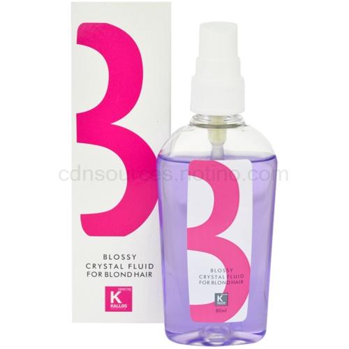 Kallos Treatment fluid pro všechny typy blond vlasů (Blossy Crystal Fluid for Blond Hair) 80 ml