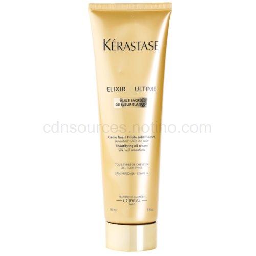 Kérastase Elixir Ultime jemný zkrášlující krém pro všechny typy vlasů Huile Sacrée De Fleur Blanche (Beautifying Oil Cream - Silk Veil Sensation) 150