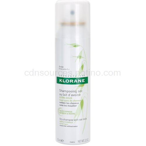 Klorane Avoine suchý šampon pro všechny typy vlasů (Dry Shampoo with Oat Milk) 150 ml