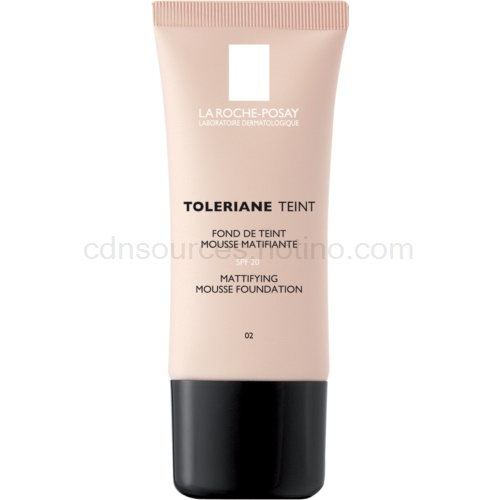 La Roche-Posay Toleriane Teint zmatňující pěnový make-up pro smíšenou a mastnou pleť odstín 02 Light Beige SPF 20 30 ml