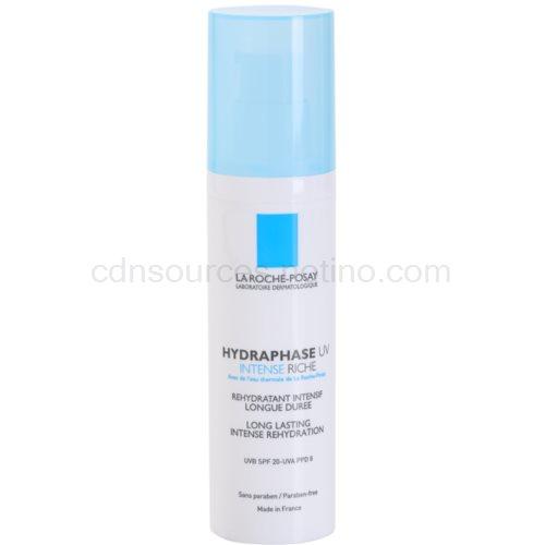 La Roche-Posay Hydraphase intenzivní hydratační krém pro suchou pleť SPF 20 (UV Intense Riche, Long Lasting Intense Rehydration) 50 ml
