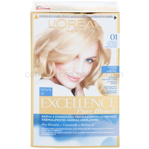 L'Oréal Paris Excellence Creme barva na vlasy odstín 01 Lightest Natural Blonde ks