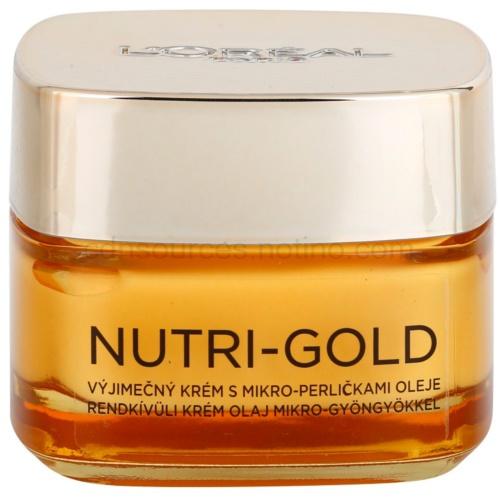 L'Oréal Paris Nutri-Gold Nutri-Gold vyživující krém s mikro-perličkami oleje Nourishing Cream with Micro-beads of Oil 50 ml