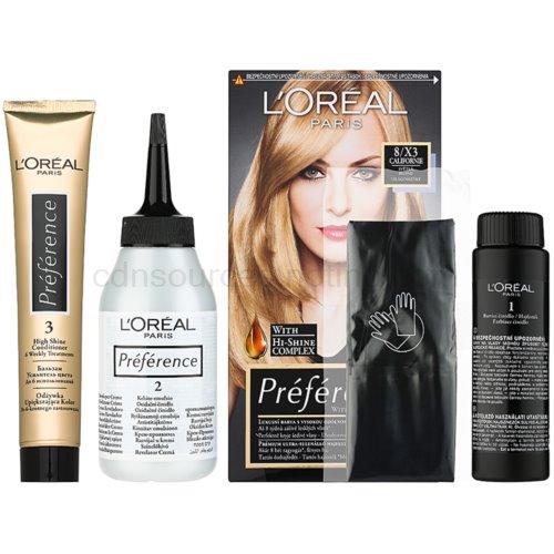 L'Oréal Paris Préférence barva na vlasy odstín 8/X3 Californie