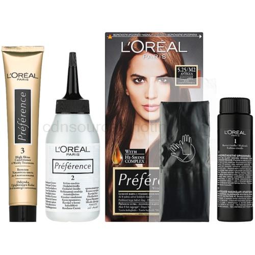 L'Oréal Paris Préférence barva na vlasy odstín 5.25/M2 Antigua
