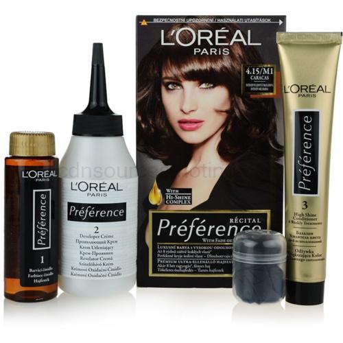 L'Oréal Paris Préférence barva na vlasy odstín 4.15/M1 Caracas 1 cap