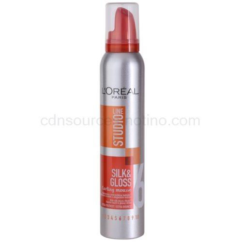 L'Oréal Paris Studio Line Silk&Gloss Curl Power pěna pro vytvarování vln (Curl Controlling Mousse) 200 ml