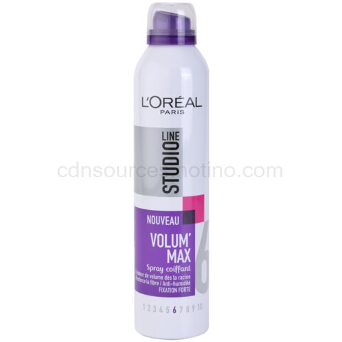 L'Oréal Paris Studio Line Volum´ Max lak na vlasy pro objem (Spray Volumateur Fixation Forte 6) 300 ml