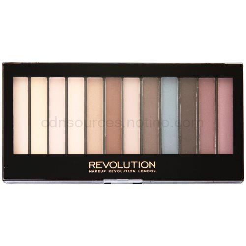 Makeup Revolution Essential Mattes paleta očních stínů 14 g