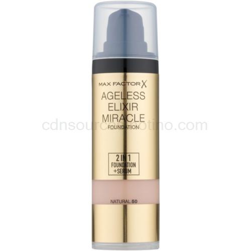 Max Factor Ageless Elixir make-up odstín 50 Natural SPF 15 (2 in 1 Foundation + Serum) 30 ml