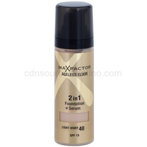Max Factor Ageless Elixir make-up odstín 40 Light Ivory SPF 15 (2 in 1 Foundation + Serum) 30 ml