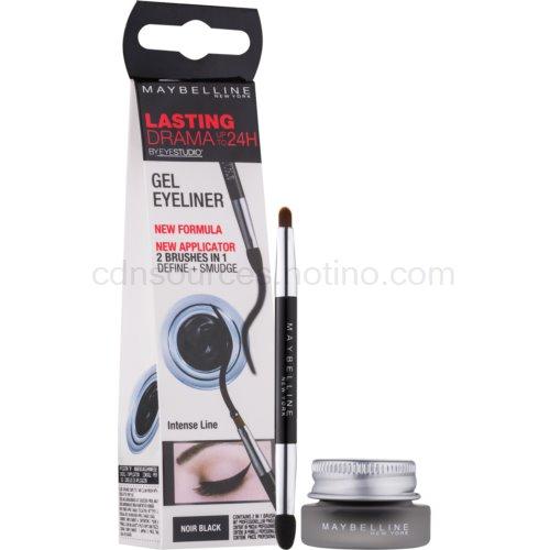 Maybelline Eyeliner Lasting Drama™ gelové oční linky odstín 01 Intense Black 2,8 g