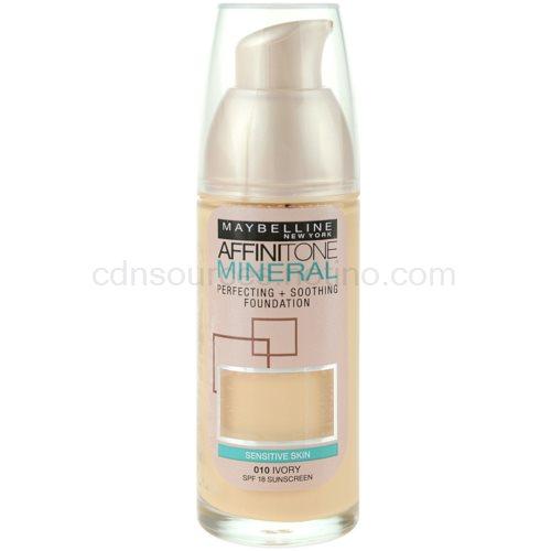 Maybelline Affinitone Mineral tekutý make-up odstín 10 Ivory 30 ml