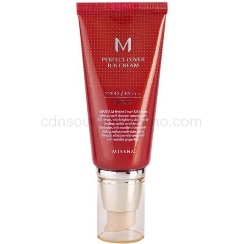 Missha M Perfect Cover BB krém s vysokou UV ochranou odstín No. 13 Bright Beige SPF42/PA+++ 50 ml