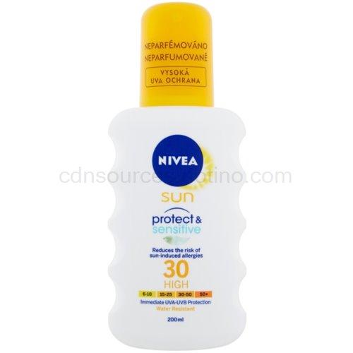 Nivea Sun Pure & Sensitive sprej na opalování SPF 30 (Sun Spray with Aloe Vera) 200 ml