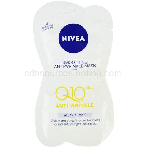 Nivea Visage Q10 Plus vyhlazující maska proti vráskám (Smoothing Anti-wrinkle Mask) 2x7,5 ml