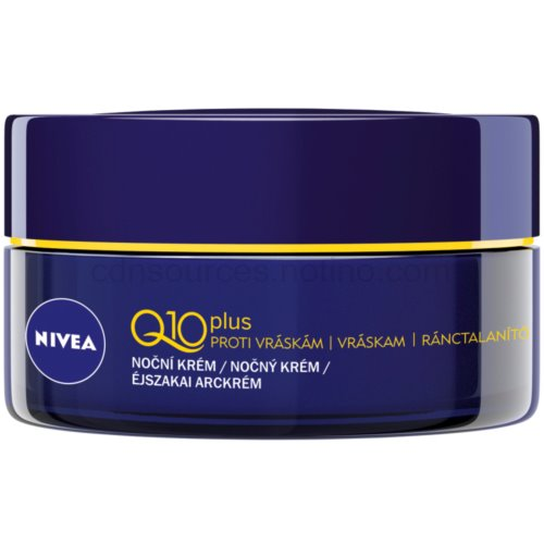 Nivea Visage Q10 Plus noční krém pro všechny typy pleti (Anti-Wrinkle Night Cream) 50 ml