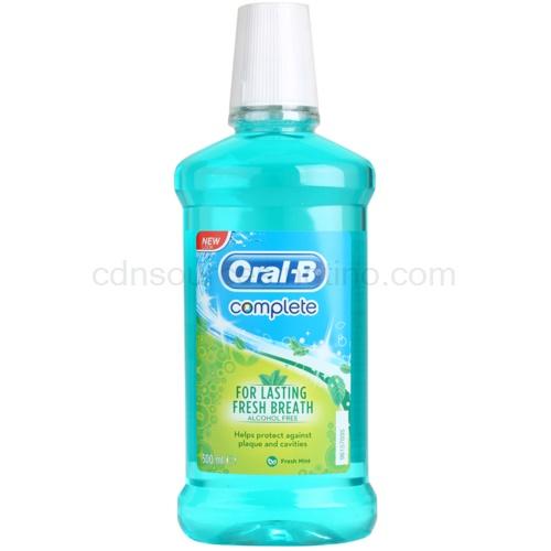 Oral B Complete Complete ústní voda proti zubnímu plaku a pro zdravé dásně příchuť Fresh Mint 500 ml