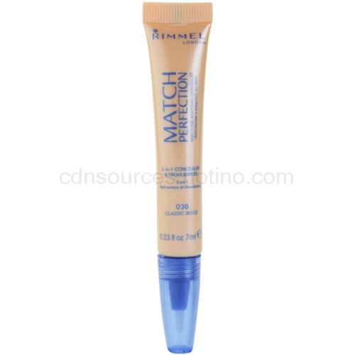 Rimmel Match Perfection rozjasňující korektor odstín 030 Classic Beige 7 ml