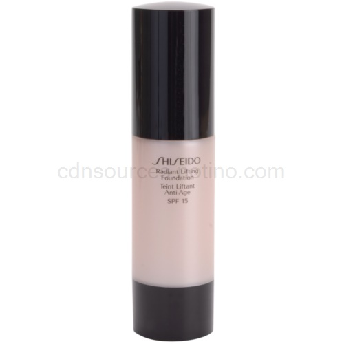 Shiseido Base Radiant Lifting rozjasňující liftingový make-up SPF 15 odstín I00 Very Light Ivory 30 ml