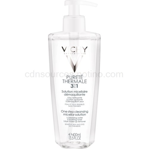 Vichy Pureté Thermale micelární čisticí voda 3 v 1 400 ml