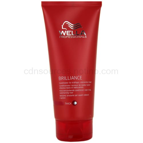 Wella Professionals Brilliance kondicionér pro hrubé, barvené vlasy (Conditioner for coarse hair) 200 ml