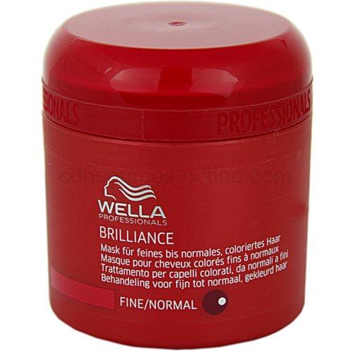 Wella Professionals Brilliance maska pro jemné, barvené vlasy (Mask for fine and normal hair) 150 ml