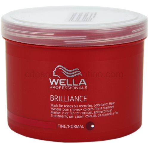 Wella Professionals Brilliance maska pro jemné, barvené vlasy (Mask for fine and normal hair) 500 ml