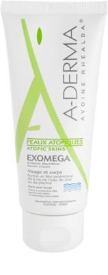 A-Derma Exomega охоронний крем для дуже сухої та чутливої, атопічної шкіри
