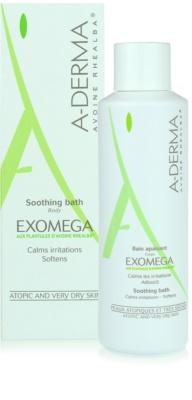 A-Derma Exomega upokojujúci kúpeľ pre veľmi suchú citlivú a atopickú pokožku 1