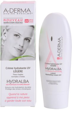 A-Derma Hydralba hidratante para peles normais a mistas SPF 20 2