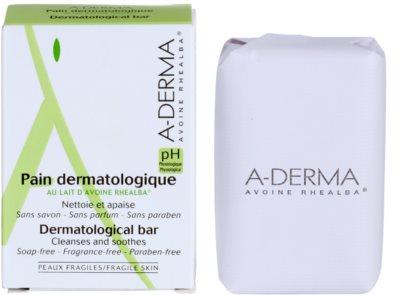 A-Derma Original Care дерматологічне очищаюче мило для чутливої та подразненої шкіри