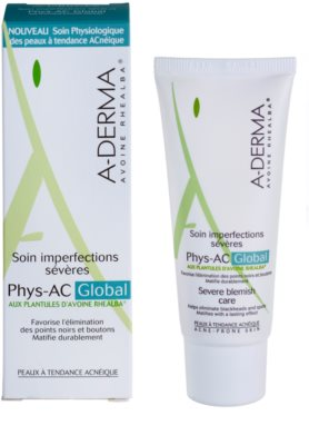 A-Derma Phys-AC Global tratamiento completo para pieles problemáticas y con acné 1