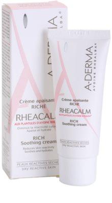 A-Derma Rheacalm výživný zklidňující krém pro suchou pleť 1