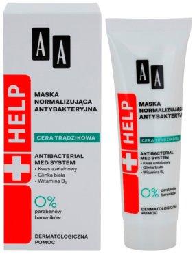 AA Cosmetics Help Acne Skin antibakteriální normalizující maska 1