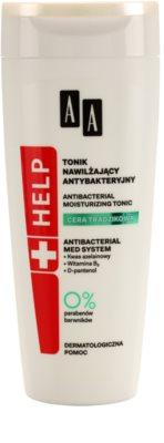 AA Cosmetics Help Acne Skin tónico antibacteriano com efeito hidratante