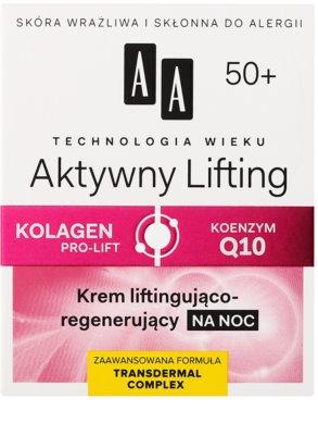 AA Cosmetics Age Technology Active Lifting regenerująco - ujędrniający krem na noc 50+ 2