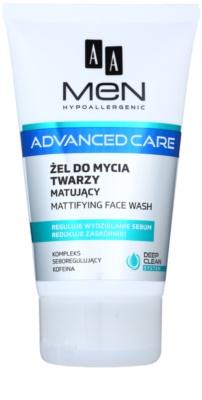 AA Cosmetics Men Advanced Care matujący żel oczyszczający do twarzy