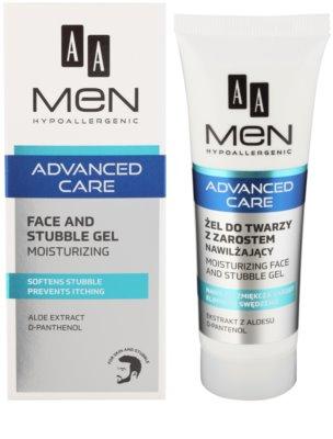 AA Cosmetics Men Advanced Care żel kojąco nawilżający do twarzy i zarostu 1