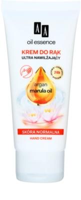 AA Cosmetics Oil Essence Argan&Marula krem intensywnie nawilżający do rąk