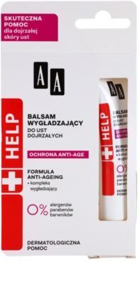 AA Cosmetics Help Anti-Age Protection balsam pentru netezirea buzelor 2