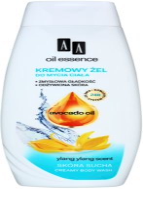 AA Cosmetics Oil Essence Avocado krémes tusfürdő gél száraz bőrre