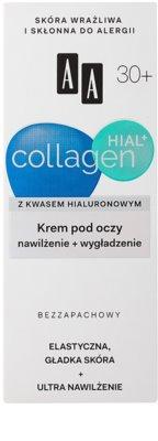 AA Cosmetics Collagen HIAL+ hydratační a vyhlazující oční krém 30+ 2
