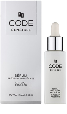 AA Cosmetics CODE Sensible sérum proti pigmentovým skvrnám 1
