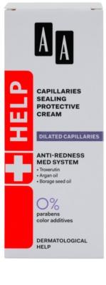 AA Cosmetics Help Dilated Capillaries védő és nyugtató krém a bőr kipirosodásának megszüntetéséért 2